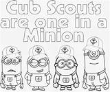 Scout Cub Coloring Pages Scouts Printable Boy Gold Minions Bear Wolf Banquet Tiger Minion Activities Lion Sheets Cubs Table Despicable sketch template