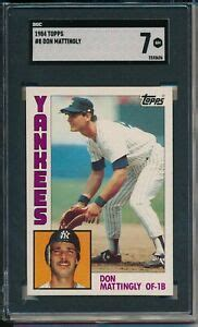 A gem mint 10 card's attributes include 60/40 or better centering, sharp focus, sharp corners, free of stains, no breaks in surface gloss, and little visible wear. DON MATTINGLY 1984 TOPPS BASEBALL ROOKIE CARD RC #8 GRADED SGC 7 NEAR MINT   eBay