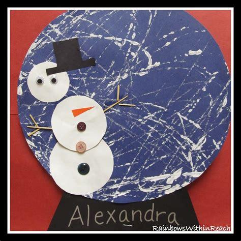 snowman in a snow globe winter project marbles 497 | d13845cf68e7b3c990f6484580f55a60