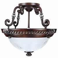 ceiling light fixtures 2-Light Bronze Semi-Flush Mount Ceiling Light Fixture ...