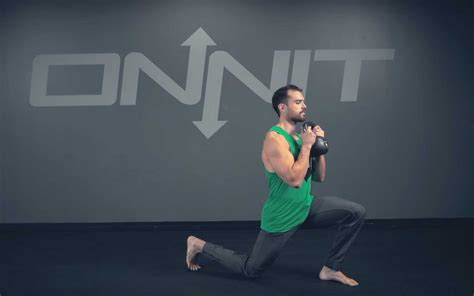 kettlebell lunge goblet forward exercise lunges build exercises leg coordination onnit academy core