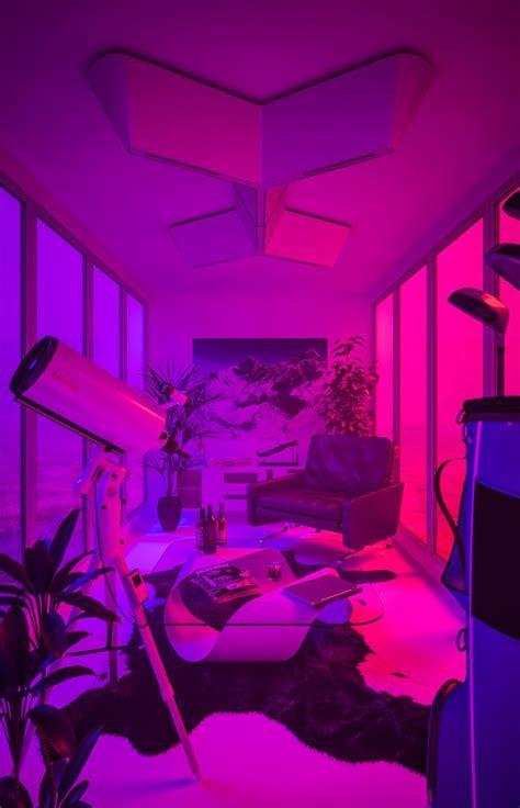 tanjukahveci purple aesthetic neon