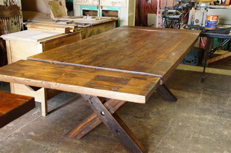 modele de table de cuisine en bois table de cuisine 100 vieux bois n 1003 le géant antique