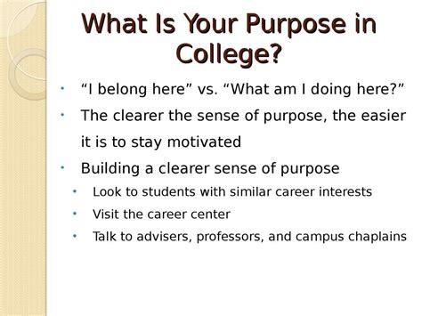 exploring  purpose  attending college prezentatsiya