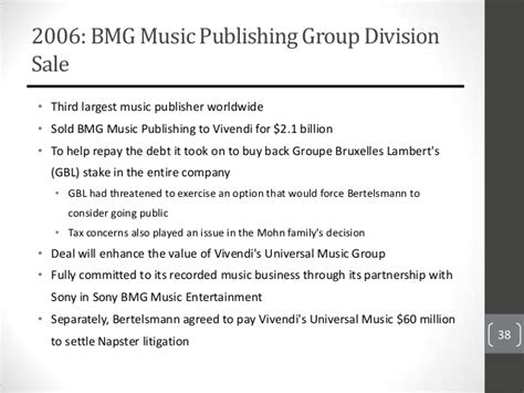 Bmg Publishing by 1 Presentation Bmg Ent Consulting