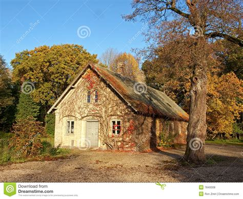 traditional danish country home denmark stock photo
