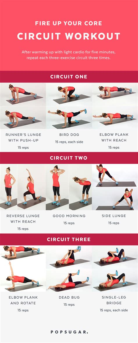 core workout circuit workouts printable popsugar fire ab equipment exercise abs bodyweight fitness training strength gym cardio routine try ready