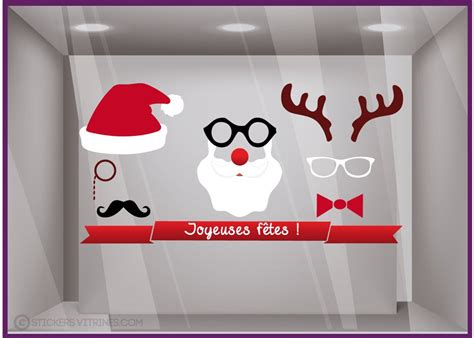 decoration de noel pour vitrine magasin d 233 coration de vitrine sticker masque de no 235 l pour magasin et opticien