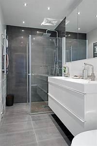 une salle de bains grise elegance et chic contemporain With salle de bain design avec décoration d intérieur formation