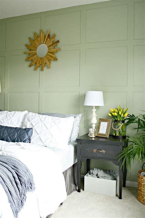 create  painted square accent wall  wood