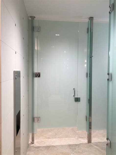 frameless bathroom partitions tempered laminated glass