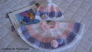 Ergahandmade  Crochet Baby Poncho And Hat   Diagrams