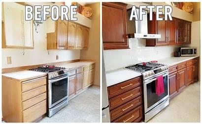 Cabinets Cabinet Kitchen Refacing Oak Honey Refinishing