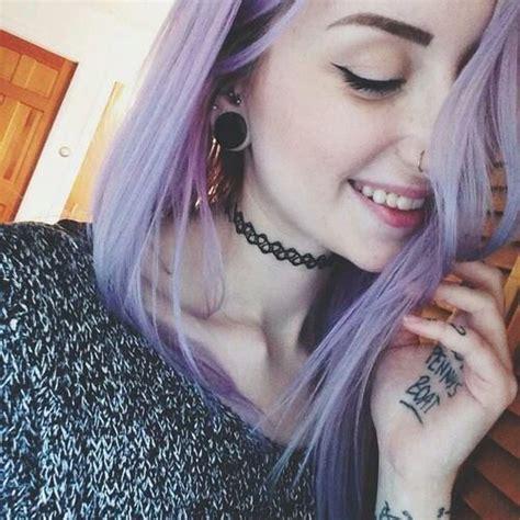 violet hair  tumblr