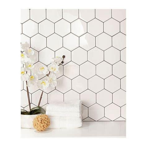 Hexagon Backsplash Tile Home Depot 25 best ideas about white tile backsplash on