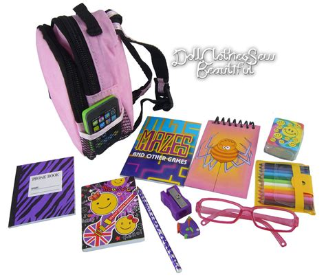 girl accessories school supplies 12 set works for 18 quot american girl