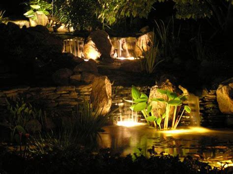garden pond lighting ideas lighting in your pond pacific ponds and design