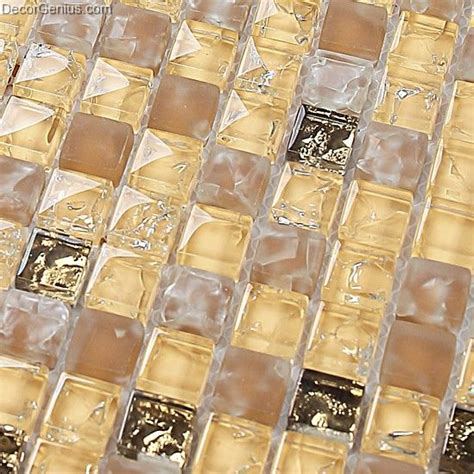 yellow blend amber floor tile diamond crystal mosaic ice
