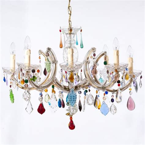 multi coloured the vintage chandelier company