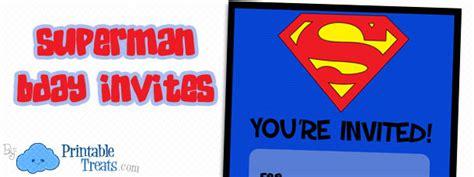 printable superman birthday invitations printable