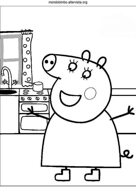 disegno da stare peppa pig peppa pig da colorare mondo bimbo