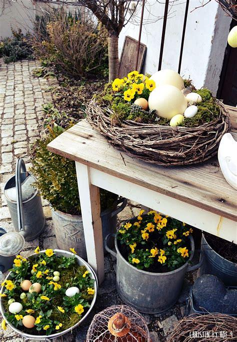 Gartendeko Ostern nat 252 rliche osterdekoration osterdeko im garten deko mit