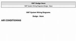 Dodge Neon 1997 System Wiring Diagrams