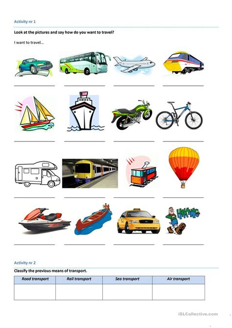 means of transport worksheet free esl printable worksheets made by teachers