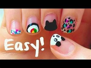 Easy Nail Art Designs At Home For Beginners Diy Easy Nail Art Designs For Short Nails For Beginners