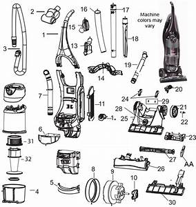 Bissell 75b2 Velocity Bagless Upright Vacuum Cleaner Parts