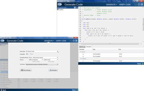 the code for a template function is generated when quizlet features matlab coder