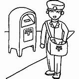 Mailman Clipart Coloring Cliparts Clip Sheet Drawing Occupation Pages Postman Jobs Printables Clipartpanda Labor Getdrawings Presentations Websites Reports Powerpoint Projects sketch template
