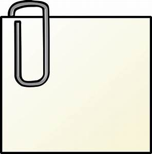 Note With Paperclip clip art Free vector in Open office ...