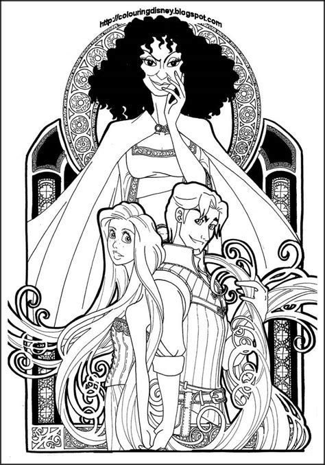 beauty   beast stained glass window coloring page