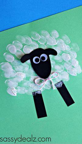 fingerprint sheep craft  kids sheep crafts daycare crafts farm crafts