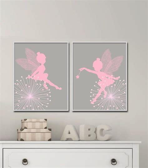 Kinderzimmer Deko Feen nursery wall print baby pink and gray