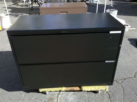 Herman Miller File Cabinet herman miller file cabinet 2 drawer lateral 42 quot black we