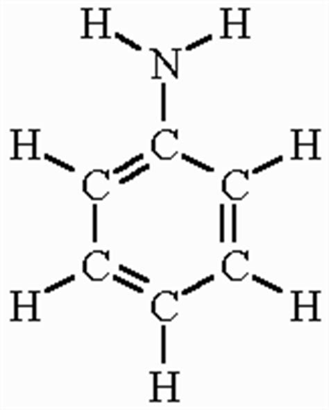 what is structural formula aniline