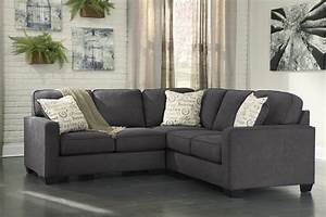 Alenya 2 piece raf sofa sectional in charcoal for Alenya 2 piece sofa sectional in charcoal