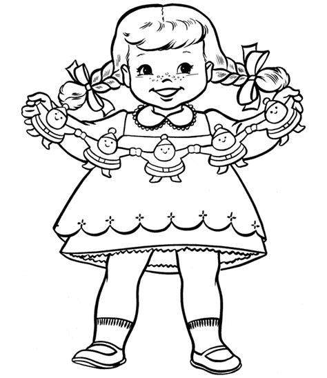 christmas coloring pages  girls coloring home