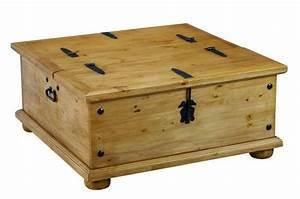 Table Basse Pin : table basse pin pays coffre ferrures mobilier ~ Teatrodelosmanantiales.com Idées de Décoration