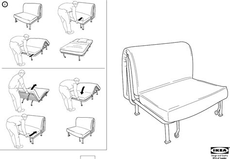 how to assemble ikea sofa bed download ikea lycksele frame chair bed assembly