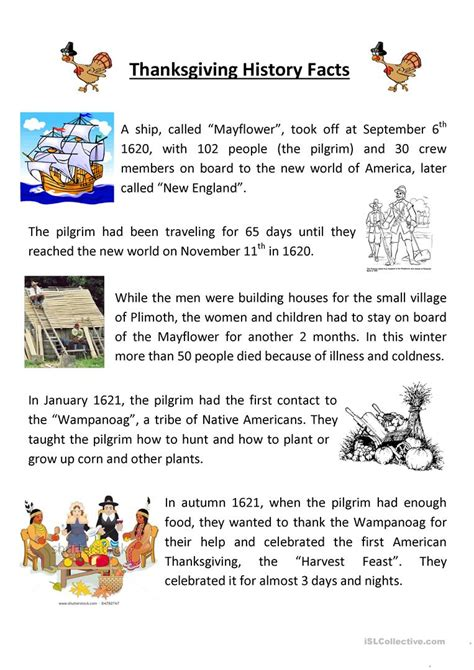 usable thanksgiving comprehension worksheets goodsnyc