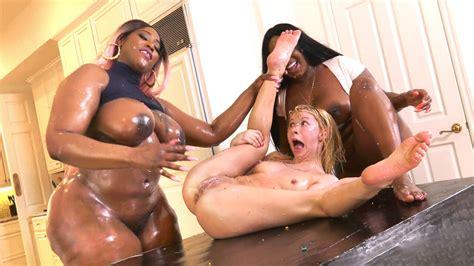 Zebra Girls Interracial Lesbian Ice Cream Party Porndoe