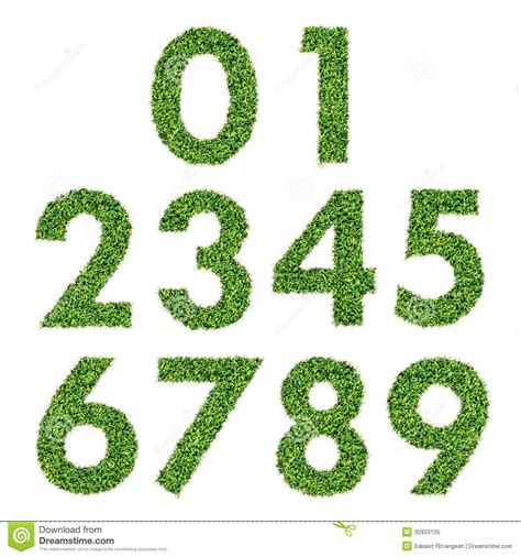 and numbers letter a made of grass stock set of green grass numbers stock illustration image of