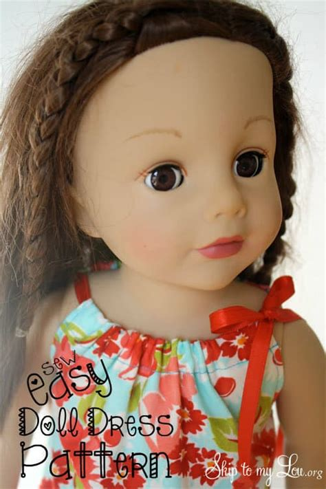 american girl doll clothes easy doll dress  sew skip