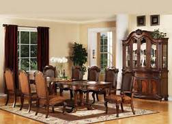 Acme REMINGTON Traditional Cherry Finish Formal Dining Room Table      Traditional Formal Dining Room