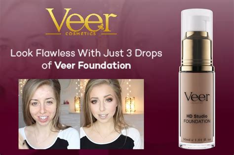 Watch The Powerful Coverage Of Veers Liquid Foundation Veer Cosmetics Pinterest Liquid