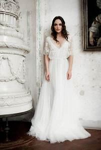 dress wedding dress lace sleeves flowy sleeves boho With flowy wedding dress with sleeves