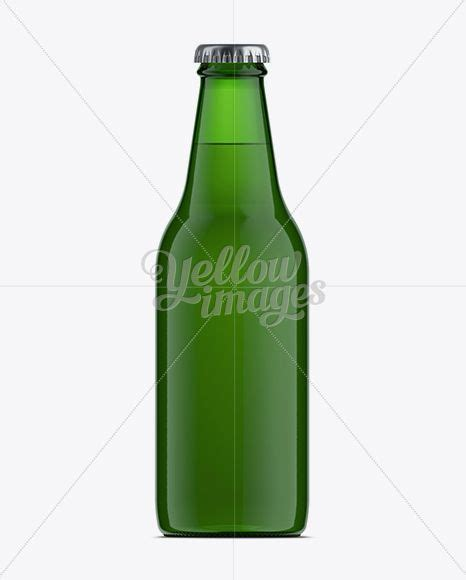 Free mockup & vector downloads resource! Download 330ml Vishy Green Glass Beer Bottle Mockup PSD ...